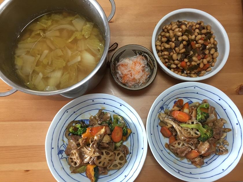 主菜は甘酢炒めで味に変化をつけて!
